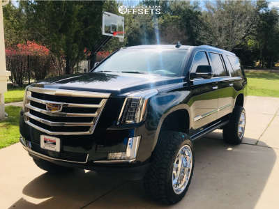 """2015 Cadillac Escalade - 22x12 -40mm - American Force Octane Ss - Suspension Lift 7"""" - 35"""" x 12.5"""""""