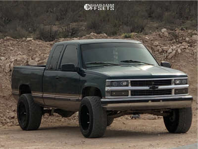 "1997 Chevrolet C2500 - 20x12 -51mm - Vision Prowler - Suspension Lift 4"" - 305/50R20"