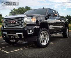 """2016 GMC Sierra 2500 HD - 22x10 -25mm - American Force INDEPENDENCE SS - Leveling Kit - 33"""" x 12.5"""""""