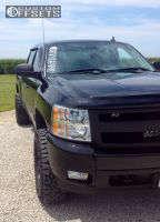 "2008 Chevrolet Silverado 1500 - 17x9 -6mm - Mb Wheels TKO - Suspension Lift 3"" - 285/70R17"