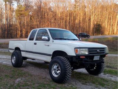 "1996 Toyota T100 - 15x12 -73mm - Mickey Thompson Classic Iii - Stock Suspension - 33"" x 12.5"""