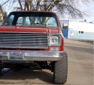 "1978 Chevrolet K20 - 20x12 -51mm - Vision Rocker - Body Lift 3"" - 35"" x 12.5"""
