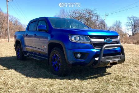 2018 Chevrolet Colorado - 17x8 20mm - XD Rockstar 3 - Stock Suspension - 265/65R17