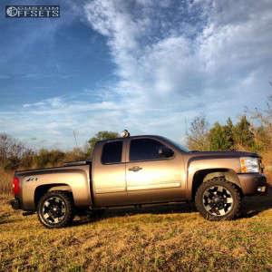"2007 Chevrolet Silverado 1500 - 20x8.5 22mm - XD Rockstar - Leveling Kit - 33"" x 12.5"""
