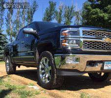 2014 Chevrolet Silverado 1500 - 22x9 31mm - Replica G02 - Leveling Kit - 285/55R22