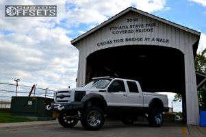 "2011 Ford F-350 Super Duty - 22x12 -44mm - Gear Off-Road Big Block - Suspension Lift 9"" - 37"" x 13.5"""