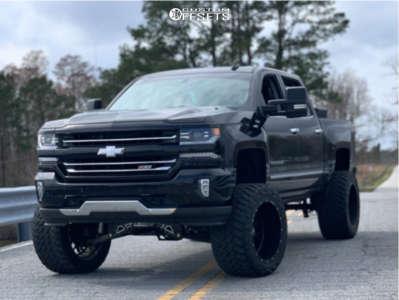 "2018 Chevrolet Silverado 1500 - 22x14 -76mm - Hostile Sprocket - Suspension Lift 9"" - 375/45R22"