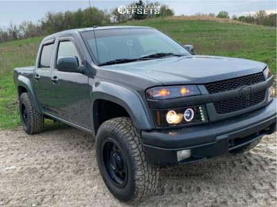 "2009 Chevrolet Colorado - 17x9 -12mm - Granite Alloy Ga643 - Suspension Lift 2.5"" - 265/70R17"