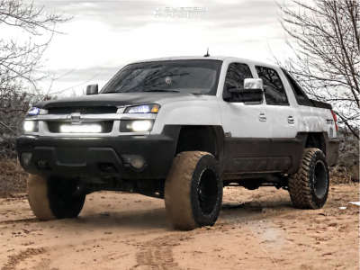 """2002 Chevrolet Avalanche 1500 - 20x12 -44mm - Red Dirt Road Dirt - Suspension Lift 6"""" - 35"""" x 12.5"""""""