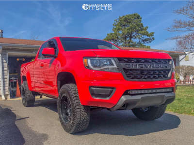 2015 Chevrolet Colorado - 17x9 0mm - Rrw Rrv-4 - Leveling Kit - 265/70R17