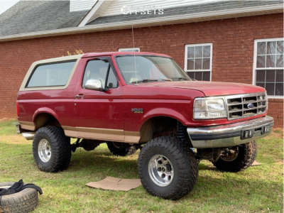 "1995 Ford Bronco - 15x10 -47mm - Pro Comp Series 69 - Suspension Lift 8"" - 33"" x 13.5"""