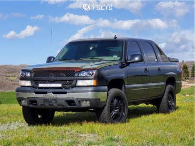 2006 Chevrolet Avalanche 1500 - 20x10 31mm - Viscera 532 - Leveling Kit - 275/55R20