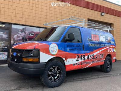 2010 Chevrolet Express 2500 - 17x8.5 18mm - G-fx Tr15 - Stock Suspension - 265/70R17