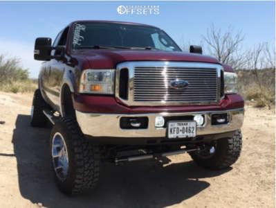 """2007 Ford F-250 - 20x12 -44mm - Fuel Krank - Suspension Lift 4.5"""" - 35"""" x 12.5"""""""