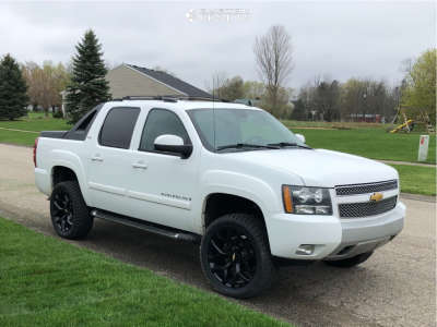 2009 Chevrolet Avalanche - 22x9 24mm - Oe Performance 176 - Leveling Kit - 305/45R22