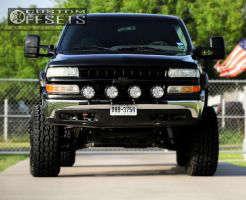 """2000 Chevrolet Silverado 1500 - 20x12 -44mm - Fuel Hostage - Suspension Lift 9"""" - 35"""" x 12.5"""""""