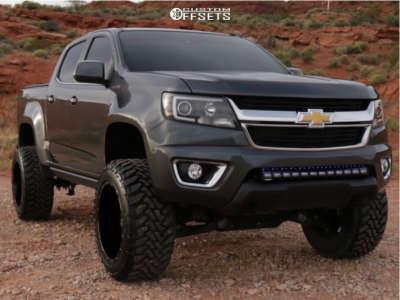 "2016 Chevrolet Colorado - 20x12 -44mm - Anthem Off-Road Equalizer - Suspension Lift 5.5"" - 33"" x 12.5"""