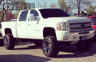 """2009 Chevrolet Silverado 1500 - 20x12 -44mm - Fuel Hostage - Suspension Lift 9"""" - 35"""" x 12.5"""""""