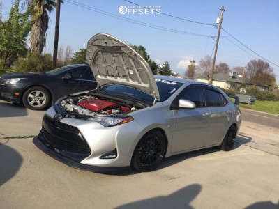 2017 Toyota Corolla - 18x8.5 35mm - Aodhan Ah02 - Lowering Springs - 215/30R18