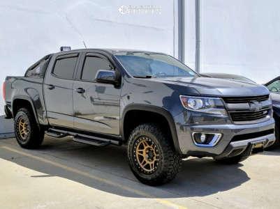 2016 Chevrolet Colorado - 17x8.5 0mm - Method Mr312 - Leveling Kit - 265/65R17