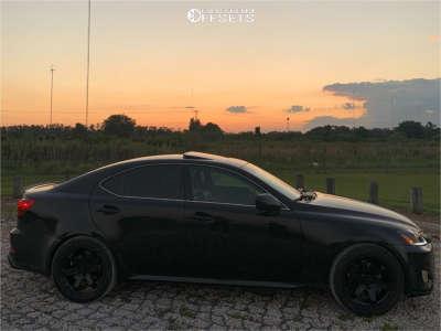 2006 Lexus IS250 - 18x8.5 35mm - AVID1 AV6 - Stock Suspension - 245/35R18