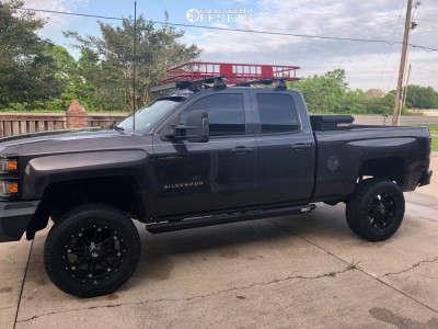 """2014 Chevrolet Silverado 1500 - 20x9 1mm - Fuel Hostage - Suspension Lift 12"""" - 35"""" x 12.5"""""""