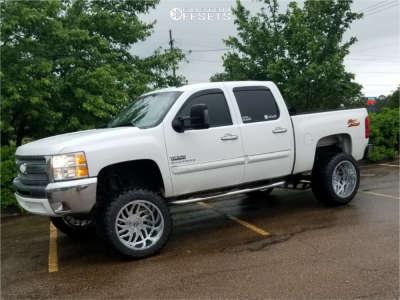 """2012 Chevrolet Silverado 1500 - 22x14 -76mm - Tis Forged 544v - Suspension Lift 8.5"""" - 35"""" x 15.5"""""""