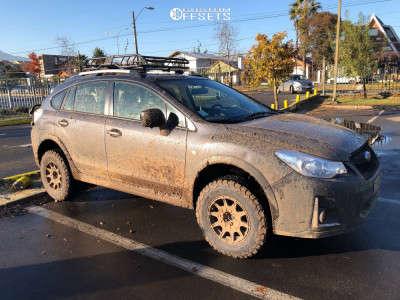 "2017 Subaru XV Crosstrek - 15x7 15mm - Method Mr502 - Suspension Lift 2.5"" - 215/75R15"