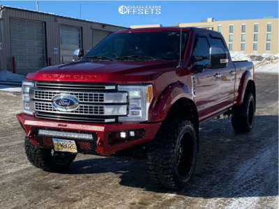 """2017 Ford E-350 Super Duty - 22x12 -56mm - Fuel Forged Ff19 - Suspension Lift 4"""" - 325/50R22"""