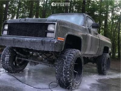 "1984 Chevrolet K10 Pickup - 22x14 -76mm - Red Dirt Road Vortex - Suspension Lift 8"" - 325/50R22"