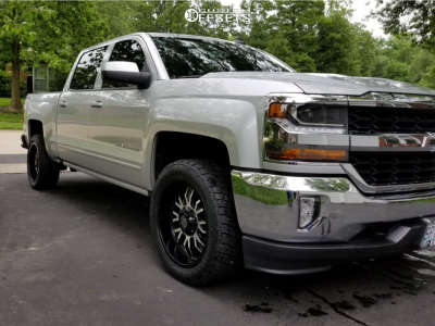 2018 Chevrolet Silverado 1500 - 20x9 -12mm - Panther Offroad 580 - Stock Suspension - 265/50R20