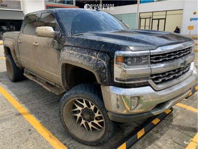 """2017 Chevrolet Silverado 1500 - 24x12 -44mm - Savage Sa01 - Suspension Lift 6"""" - 315/55R24"""