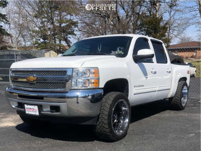 "2012 Chevrolet Silverado 1500 - 22x12 -44mm - Fuel Renegade D264 - Suspension Lift 3.5"" - 33"" x 12.5"""