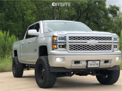 """2014 Chevrolet Silverado 1500 - 20x10 -12mm - Fuel Krank - Suspension Lift 7"""" - 35"""" x 12.5"""""""