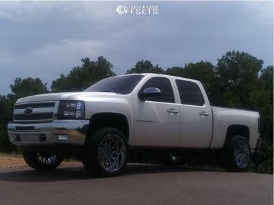 "2013 Chevrolet Silverado 1500 - 22x12 -51mm - Vision Rocker - Suspension Lift 3.5"" - 33"" x 12.5"""