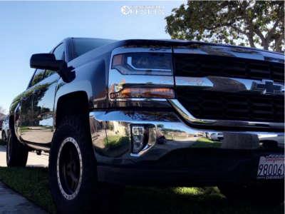 "2016 Chevrolet Silverado 1500 - 17x8.5 0mm - Pro Comp Series 29 - Leveling Kit & Body Lift - 33"" x 12.5"""