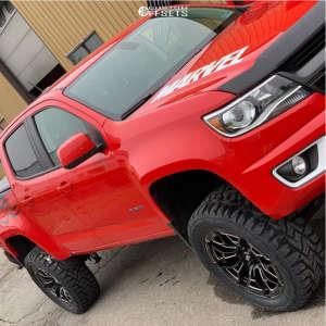 "2018 Chevrolet Colorado - 20x9 0mm - Xd XD841 - Suspension Lift 5.5"" - 295/55R20"