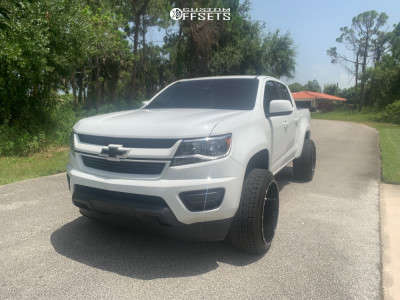 2019 Chevrolet Colorado - 22x12 -44mm - Off Road Monster M14 - Leveling Kit - 265/40R22