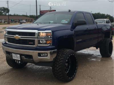 "2014 Chevrolet Silverado 1500 - 24x14 -76mm - TIS 544bm - Suspension Lift 8"" - 35"" x 13.5"""
