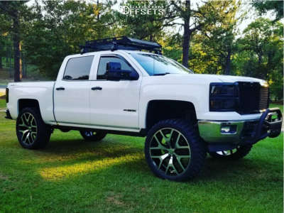 "2014 Chevrolet Silverado 1500 - 26x10 31mm - Oe Performance 169 - Suspension Lift 7.5"" - 37"" x 13.5"""