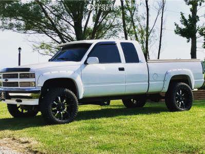 "1996 Chevrolet K1500 - 20x12 -44mm - Moto Metal Mo970 - Suspension Lift 3"" - 305/55R20"