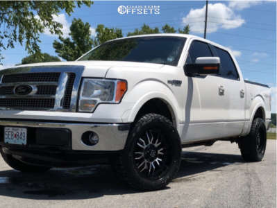2011 Ford F-150 - 20x9 -12mm - Panther Offroad 580 - Stock Suspension - 255/75R20