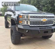 """2014 Chevrolet Silverado 1500 - 22x9.5 -18mm - Fuel Hostage - Suspension Lift 6"""" - 37"""" x 12.5"""""""