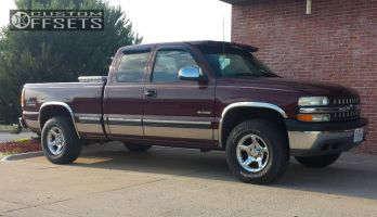 2000 Chevrolet Silverado 1500 - 16x8 0mm - American Eagle 146 - Stock Suspension - 265/75R16