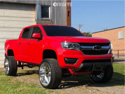 """2018 Chevrolet Colorado - 24x12 -51mm - Specialty Forged Sf035 - Suspension Lift 6"""" - 305/35R24"""