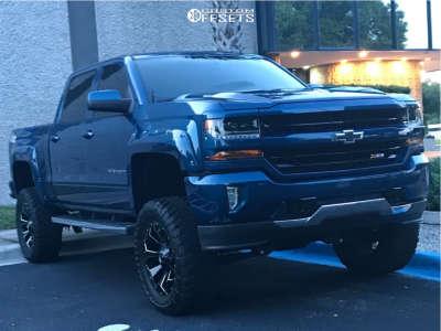 "2017 Chevrolet Silverado 1500 - 20x10 -18mm - Fuel Assault - Suspension Lift 8.5"" - 35"" x 12.5"""