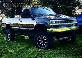 """1997 Chevrolet K3500 - 20x9 10mm - MKW Offroad M83 - Lifted >9"""" - 35"""" x 12.5"""""""