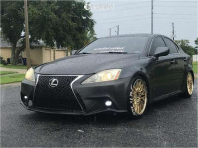 2007 Lexus IS250 - 18x8.5 38mm - F1R F23 - Coilovers - 225/45R18