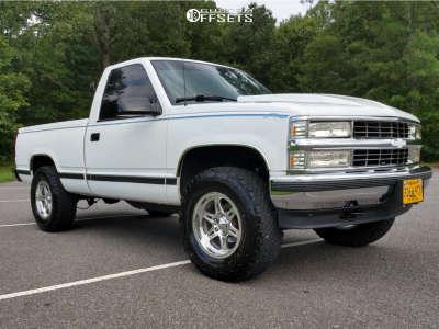 1988 Chevrolet K1500 - 17x8.5 -12mm - Weld Racing Cheyenne - Leveling Kit - 285/70R17