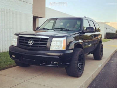 """2002 Cadillac Escalade - 20x10 -18mm - Helo He904 - Leveling Kit - 33"""" x 12.5"""""""